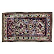 Antique Caucasian Kazak Exc Cond Hand Knotted Oriental Rug Sh30164