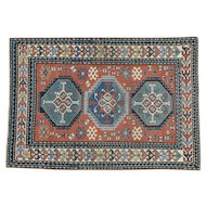 Antique Caucasian Kazak Good Cond Hand Knotted Rug Sh30177