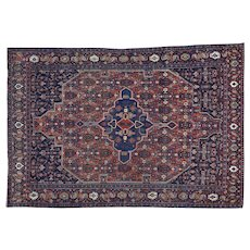 Antique Persian Bidjar Good Cond Hand Knotted Oriental Rug Sh30178