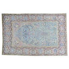 Antique Persian Tabriz Tree of Life Good Cond Oriental Rug Sh30180