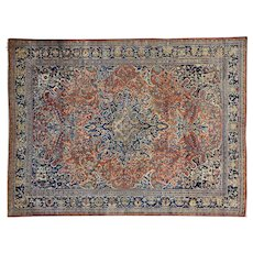 Antique Persian Fereghan Sarouk Mint Cond Oriental Rug Sh30266