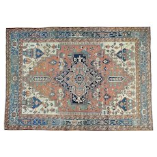 Hand-Knotted Oversize Antique Persian Serapi Oriental Rug Sh30921