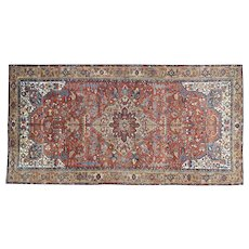 Antique Persian Heriz Gallery Size Mint Cond Full Pile Rug Sh32022