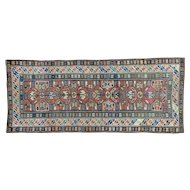 Antique Kazak Exc Cond Wide Runner Pure Wool Oriental Rug Sh32025