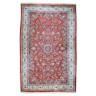 "15'3""x23'7"" Old Persian Sarouk Hand-Knotted Red Oversize Mint Cond Rug"