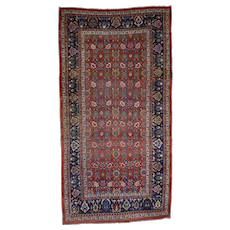 8'6''x16' Hand-Knotted Antique Persian Bijar Exc Cond Gallery Size Rug