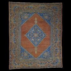 """9'6""""x11'9"""" Antique Samarkand With Bakshaish Design Oriental Rug"""