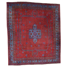"16'8""x19'1"" Antique Turkish Oushak Full Pile Mint Cond Oversize Rug"