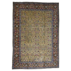 """13'2""""x18'3"""" Antique Persian Tabriz Circa 1910 Hand-Knotted Oversize Oriental Rug"""
