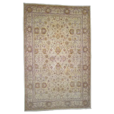 """10'7""""x16'4"""" Antique Mughal Amritsar Good Condition Even Wear Hand-Knotted Oriental Oversize Rug"""