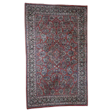 """9'1""""x14'10"""" Vintage Persian Sarouk Full Pile Hand-Knotted Oriental Rug"""