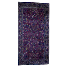 """11'4""""x22'1"""" Antique Persian Mashad With Tree Design Good Condition Hand-Knotted Oversize Oriental Rug"""