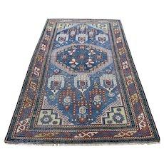 "3'10""x6'3"" Antique Caucasian Kazak Even Wear Hand Knotted Oriental Rug"