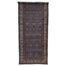 """6'5""""x16'4"""" Hand-Knotted Antique Persian Fereghan Sarouk gallery Size Oriental Rug"""