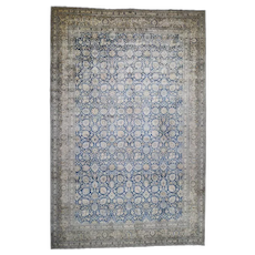 """12'8""""x19'8"""" Antique Persian Tabriz Oversize All Over Design Good Condition Hand-Knotted Oriental Rug"""