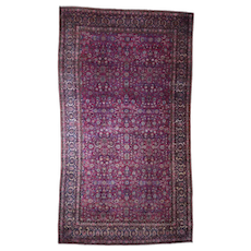 """10'3""""x17'9"""" Antique Persian Manchester Kashan Soft Wool And Good Condition Hand-Knotted Oriental Rug"""