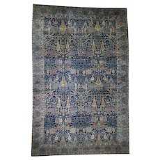 """11'7""""x17'8"""" Antique Maharaja Kashmir Oversized Willow Tree Design Hand-knotted Oriental Rug"""