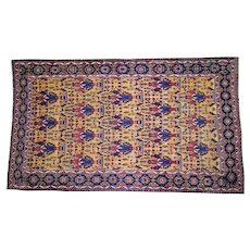 Antique Persian Gallery Size Bakhtiari Pure Wool Hand-Knotted Oriental Rug Sh44872