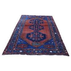 Antique Tribal Karabagh Hand-Knotted Oriental Rug - 5′ × 8′3″