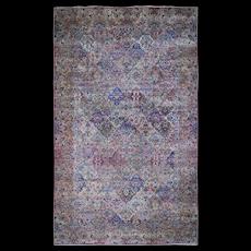 "10'7""x18'10"" Gallery Size Antique Persian Kerman Garden Design Hand-Knotted Oriental Rug"