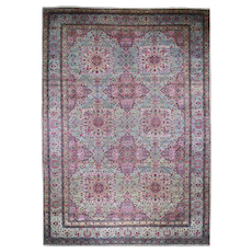 """14'7""""x23' Mansion Size Antique Persian Lavar Kerman Mint Condition Full Pile Hand-Knotted Oriental Rug"""