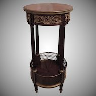 Fine 19th Century French Rosewood & Mahogany Ormolu Mounted PedestalTable