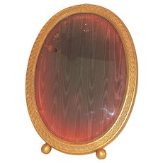 Large Gorham Gilt Ormolu Beveled Glass Picture Frame