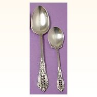 Wallace Sterling Silver Rosepoint/Rose Point Serving Spoon