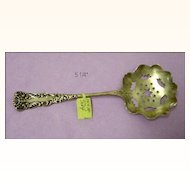 Sterling Silver Bonbon Spoon with Star Piercings