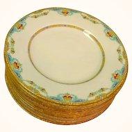 12 Royal Doulton The Roxbury Plates Hand Enamel Work