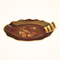 Carltonware Rouge Royale and Gold Peacock Dish