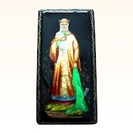 Russian Lacquer Legend Frog Princess Large Box Papier Mache