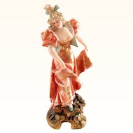 Miniature Teplitz Figurine of Pretty Woman
