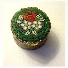 Vintage Mosaic Topped Pillbox