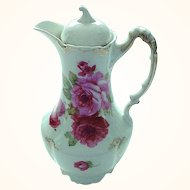 Vintage Large Rose Decorated Chocolate Pot