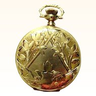 14K Antique Elgin Pocket Watch - Gorgeous Ladies Watch