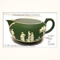 Antique Wedgwood Olive Green Creamer (larger size) Tricolor