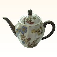 Antique Royal Worcester 1888 Small Flawless Handpainted Teapot