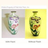 Antique Meiji Period Japanese Ginbari Cloisonne Vase - Hallmarked