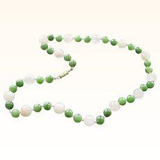 Jade and Rose Quartz Necklace