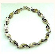 Modernist Danish Denmark Designer Sterling Silver Necklace by A&K