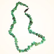 """16 1/2"""" Turquoise Nugget Necklace"""