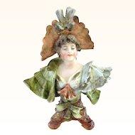 Gorgeous Miniature Porcelain Rudolstadt Bust Like Teplitz