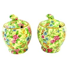One Royal Winton Grimwades Chintz Kew Pattern Jam or Jelly Jar