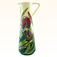 Moorcroft Rachel Bishop Iris Decorated Ewer or Jug - LE Club Piece from 1997