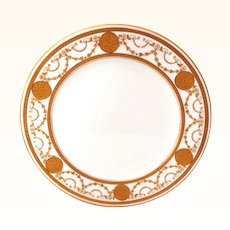 Adderley's Ltd England Plate with Raised Gold, Jewels, and Swags