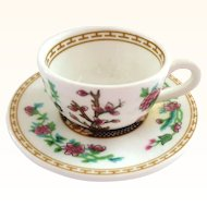 Coalport Miniature Indian Tree Cup and Saucer