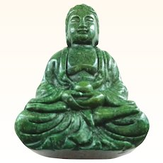 Jade Buddha Carved Figure