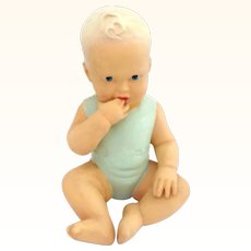 Finger in Mouth Cutie Baby Figurine Vintage Signed Figure