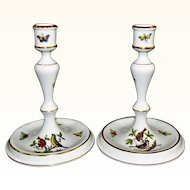 "Herend 7 1/4"" Rothschild Bird Candlesticks -  2 Pairs Available!"